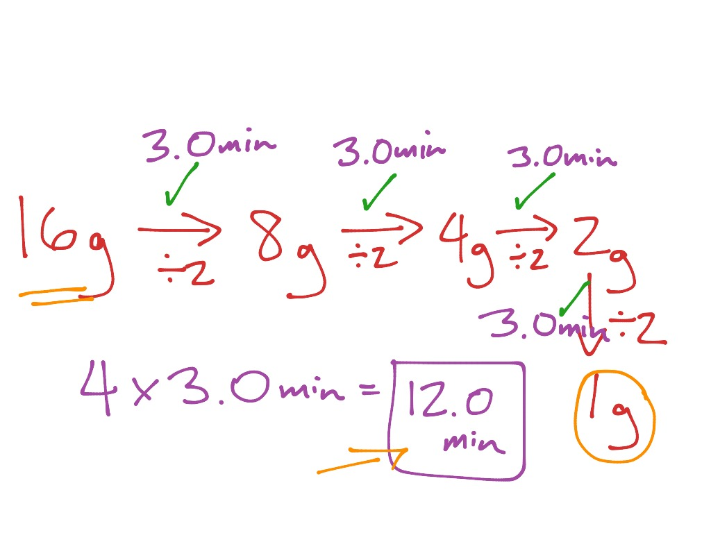 Half Life Calculations Part 2 Simple