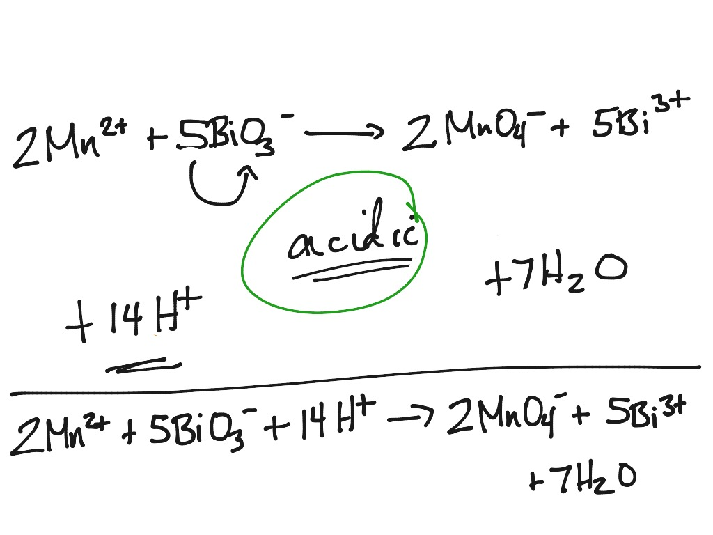 Redox Reactions In Acidic Solutions Worksheet