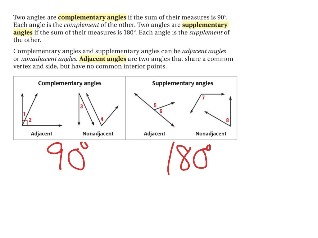 Worksheet Complementary Supplementary Angles Worksheet