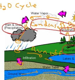 explain the water cycle with diagram [ 1024 x 768 Pixel ]