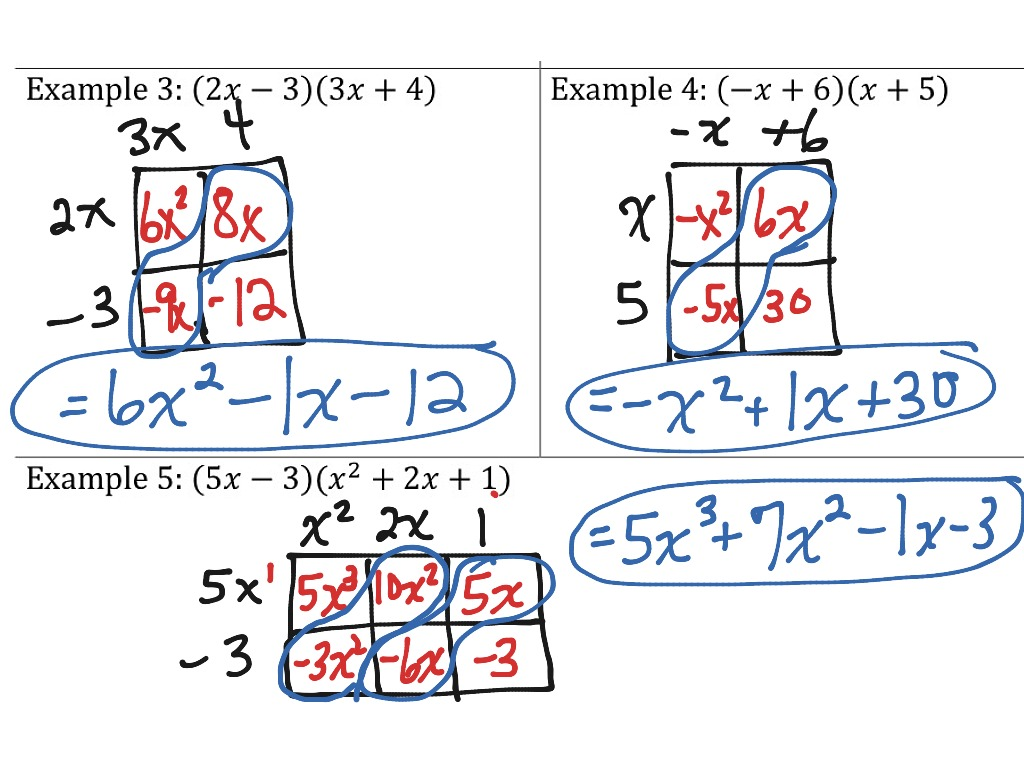 Worksheet Multiplying Special Case Polynomials Grass