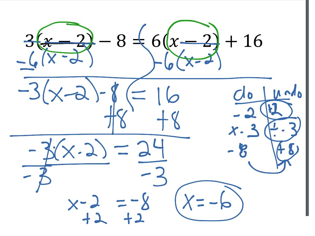 Multi Step Equations Variables On Both Sides