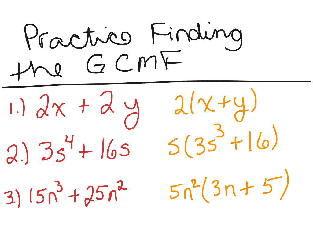 Finding Greatest Common Monomial Factor