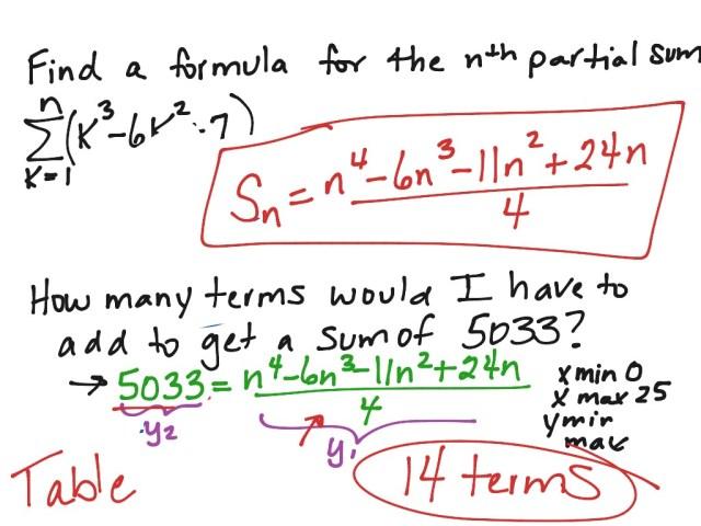 Summation notation  Math, Precalculus, Sequences and Series  ShowMe
