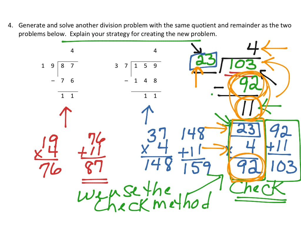 hight resolution of Finding a division problem with the same quotient \u0026 remainder   Math
