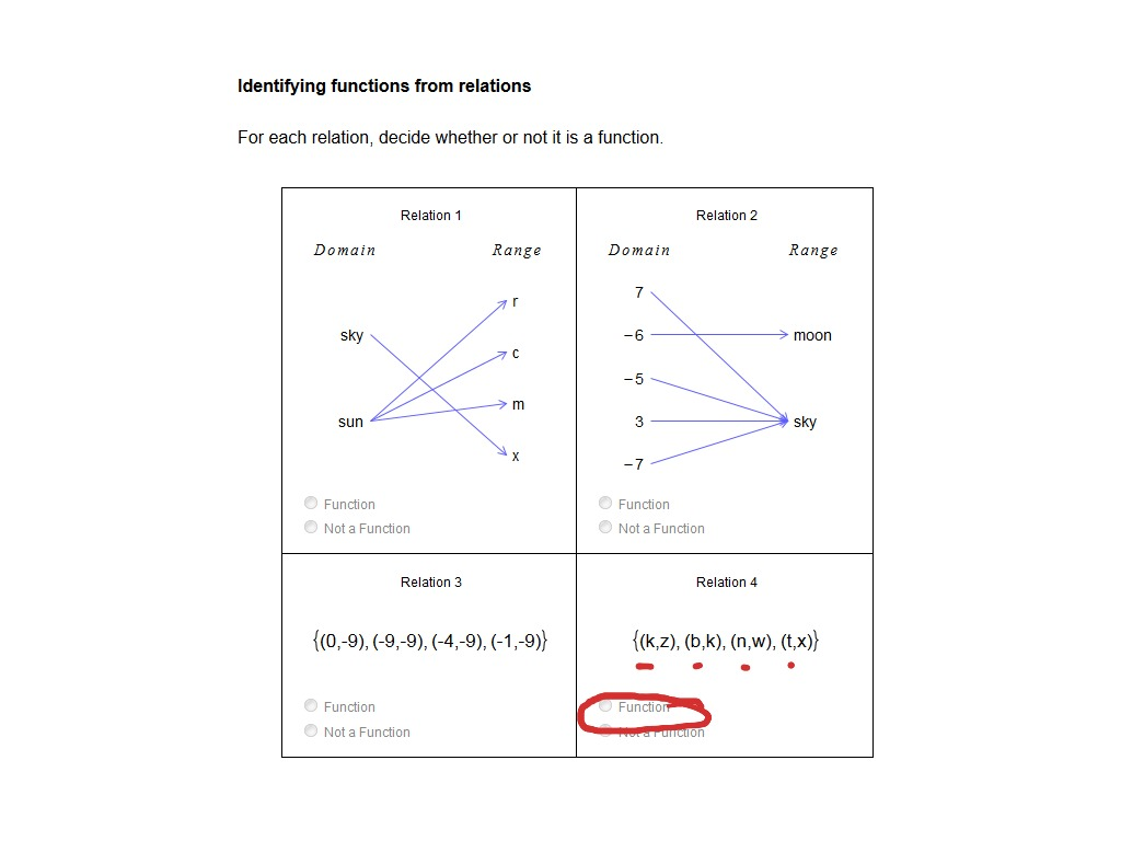 Identifying Functions From Relations