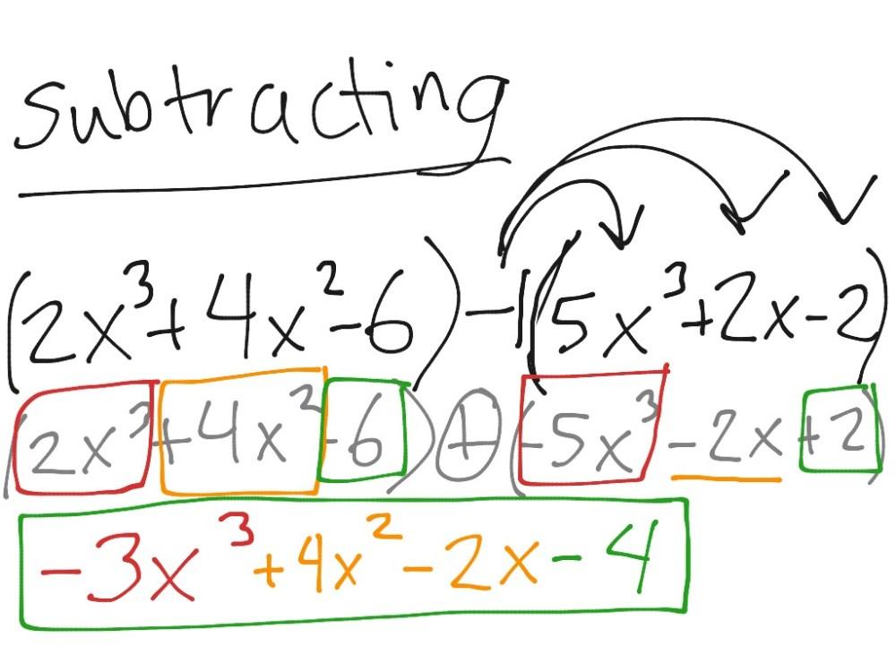 medium resolution of Adding and subtracting polynomials   Math