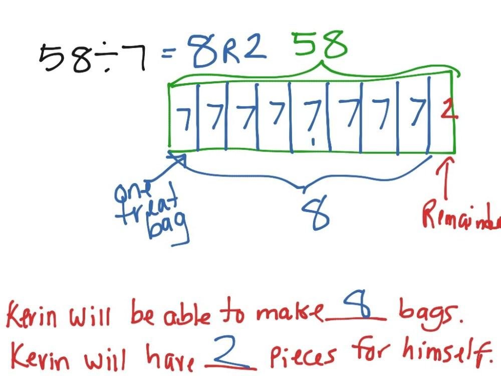 medium resolution of dividing with remainders using a tape diagram lesson 14 math tape diagram decimal division decimal tape diagram