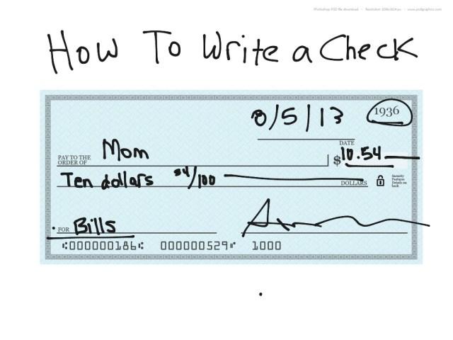 How to Write A Check  Business, Life  ShowMe