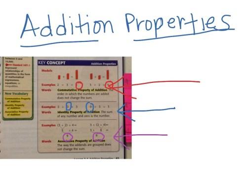 small resolution of Addition properties   Math