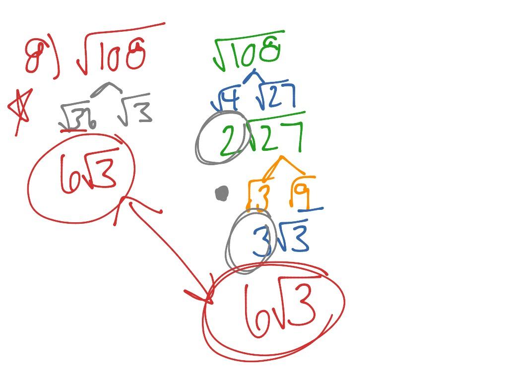 Simplifying Radicals Worksheet 8