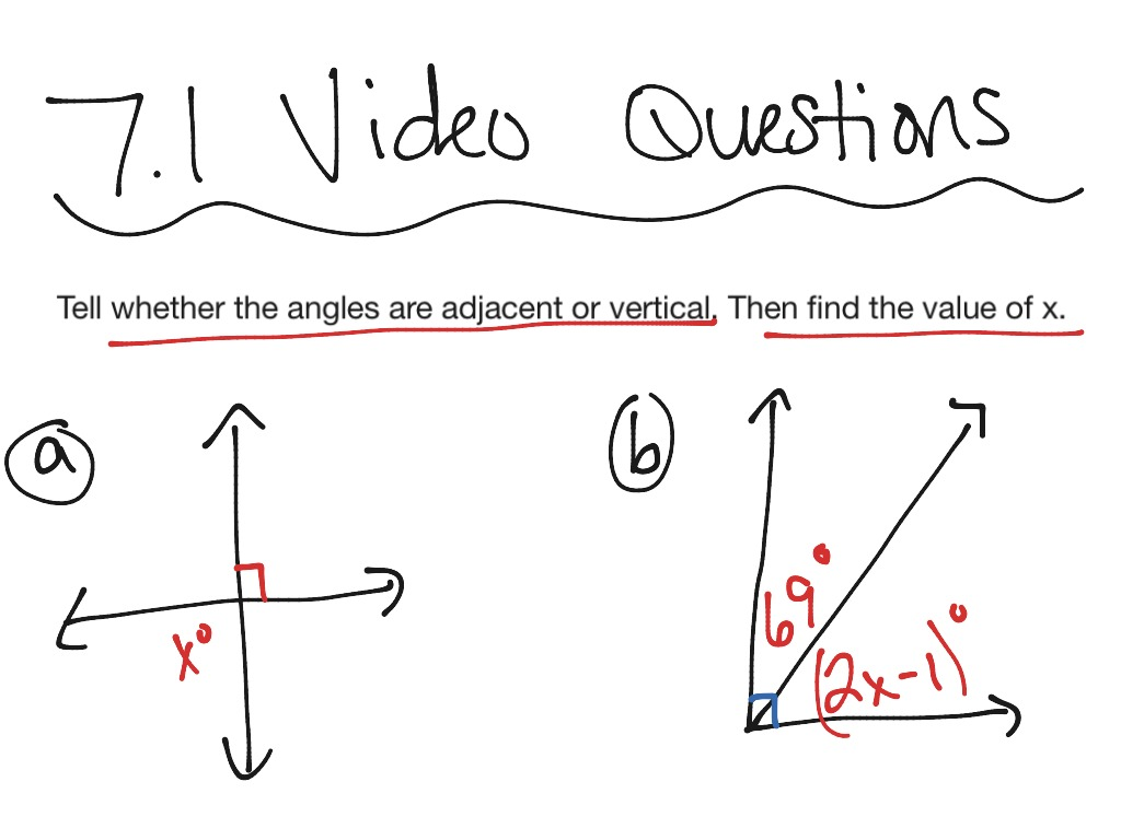 7 1 Adjacent And Vertical Angles