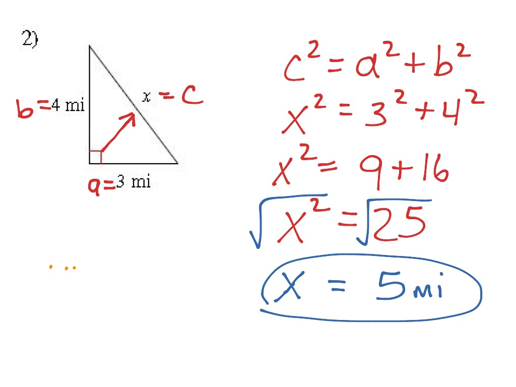 2 5 8 Pythagorean Theorem Amp It S Converse