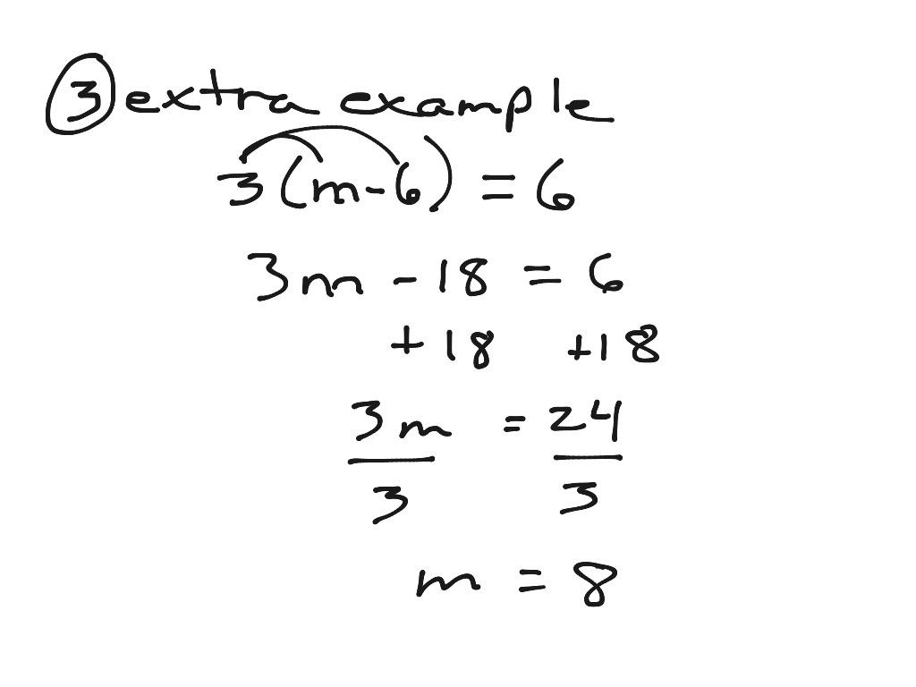 Solving Equations With Parentheses 3