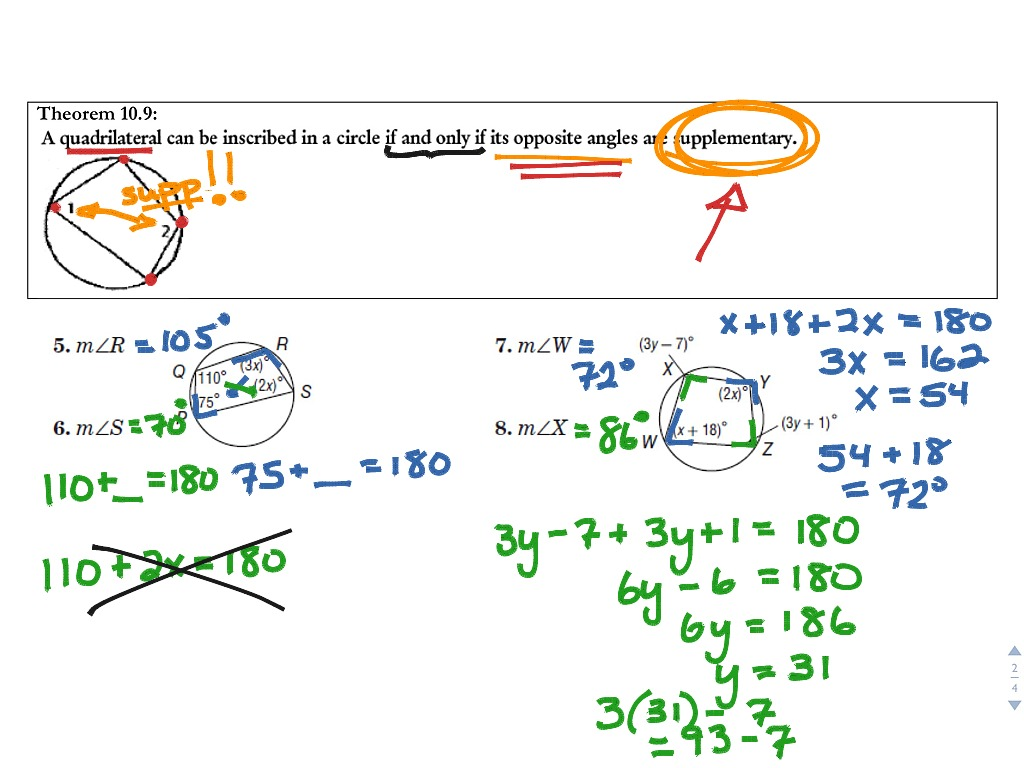 Lesson 10 4 Inscribed Angles