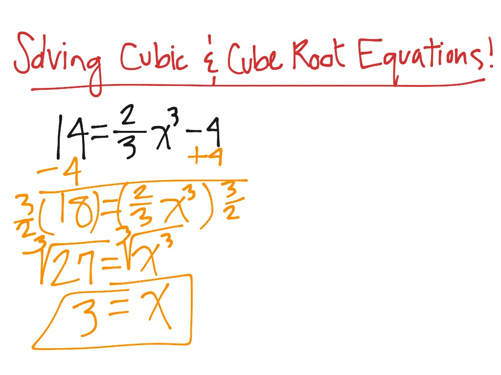 Solving Cubic And Cube Root Equations