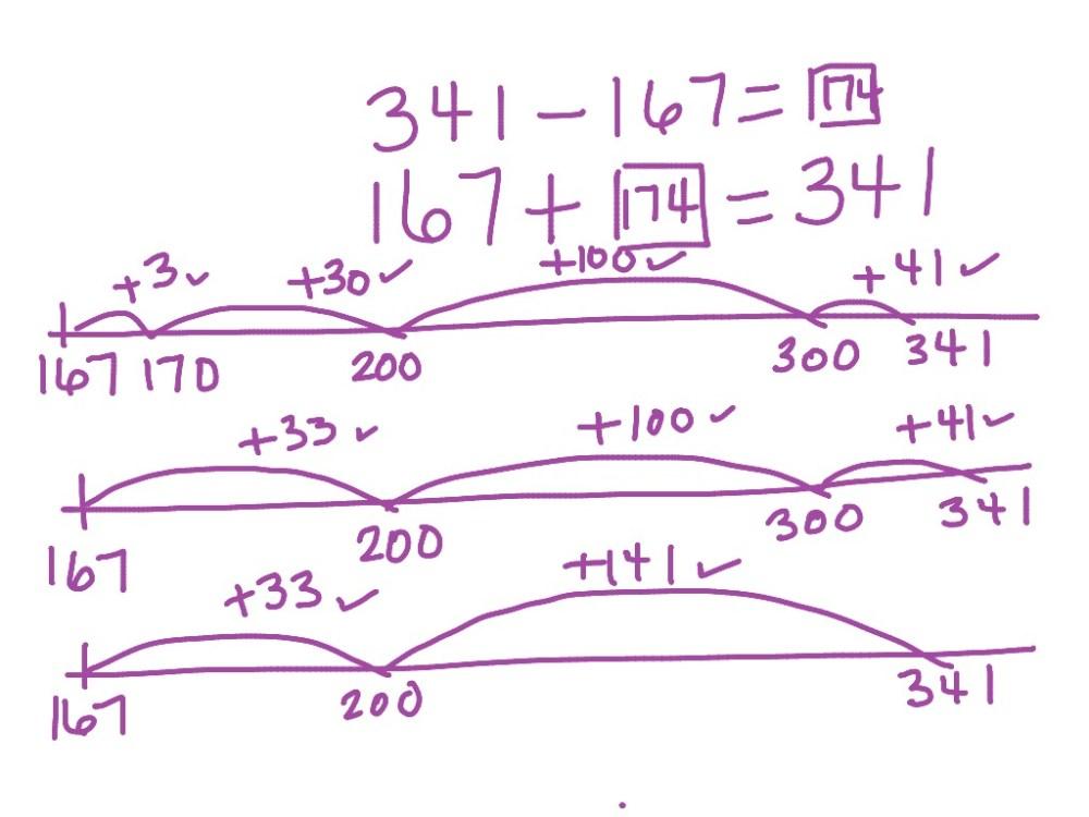 medium resolution of Subtraction using open number line CCSS 2.NBT.5. 2.NBT.7. 3.NBT.2   Math    ShowMe
