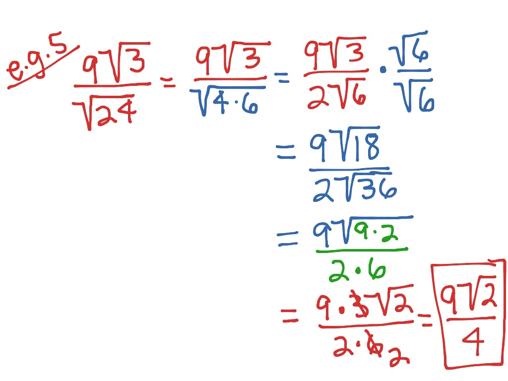 11 7 Multiplying Dividing Amp Simplifying Radicals