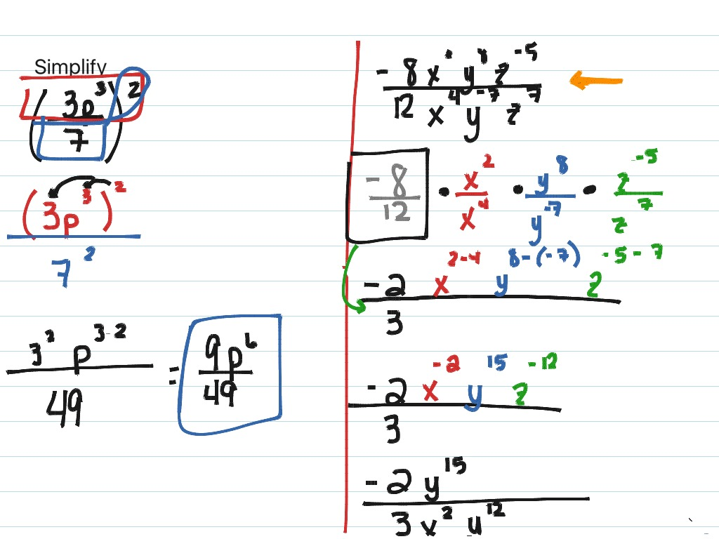 Lesson 7 4 Problem Solving Division Properties Of