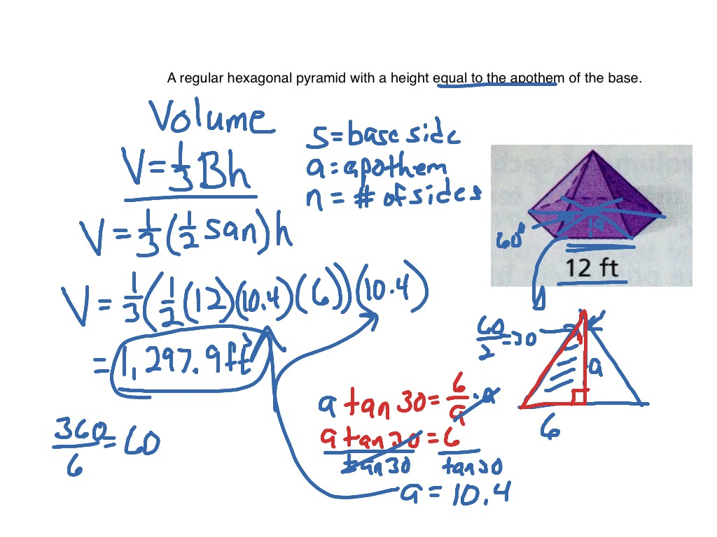 Volume Hexagonal Pyramid