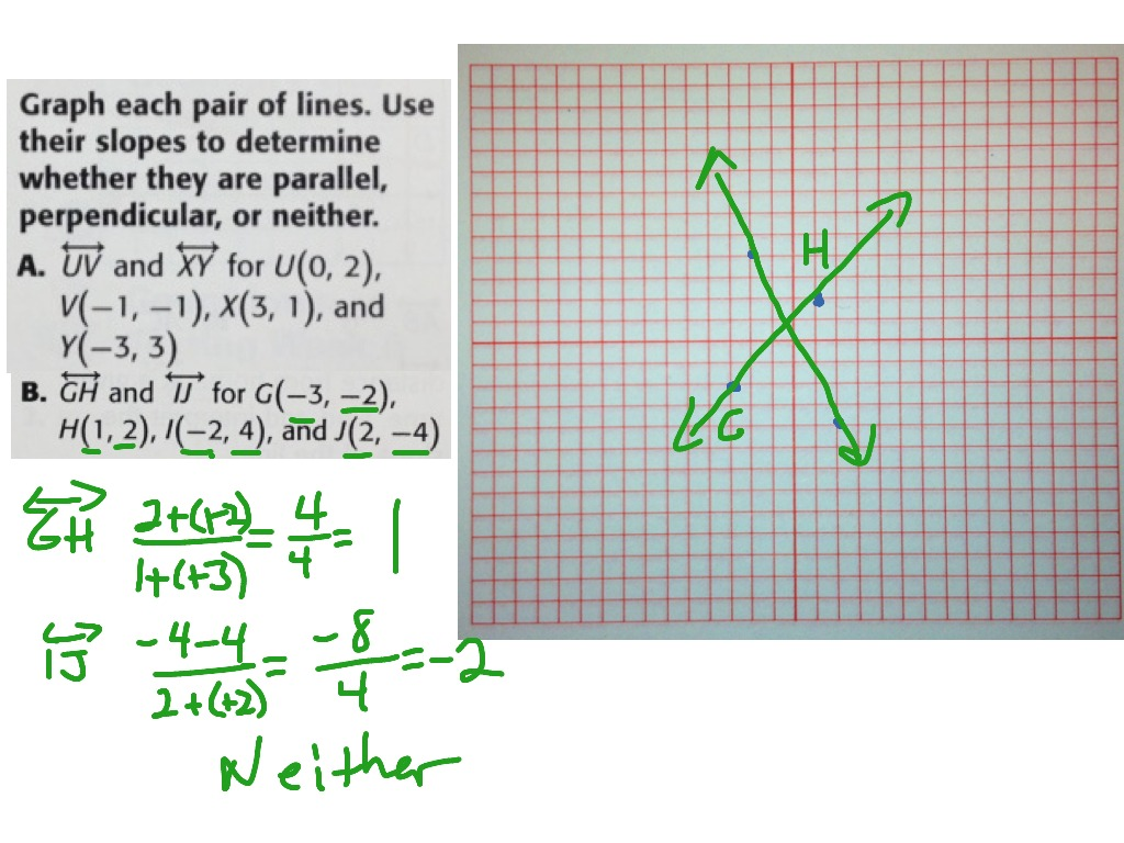 Lines Parallel Or Perpendicular