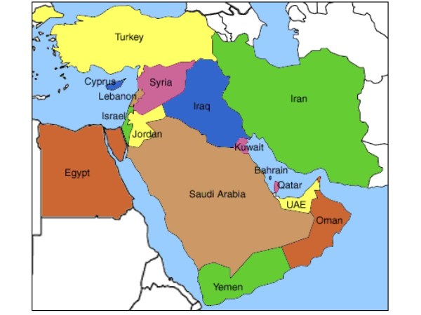 Middle East Mental Map Baker World History Middle