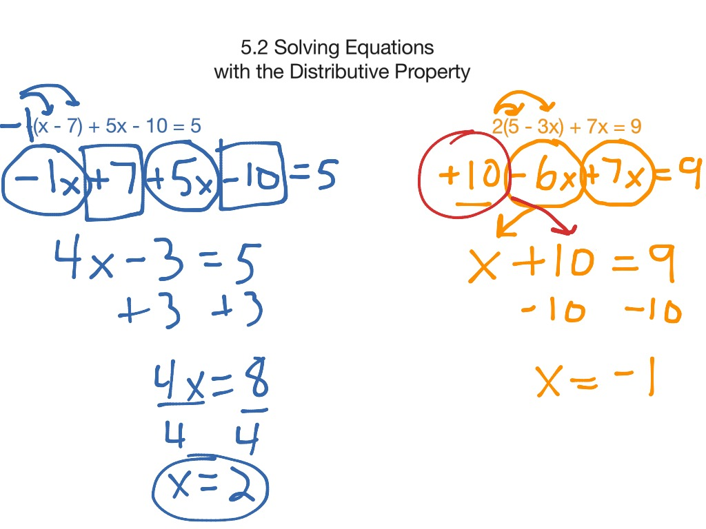 Pa 5 2 Solving Equations With Distributive Property