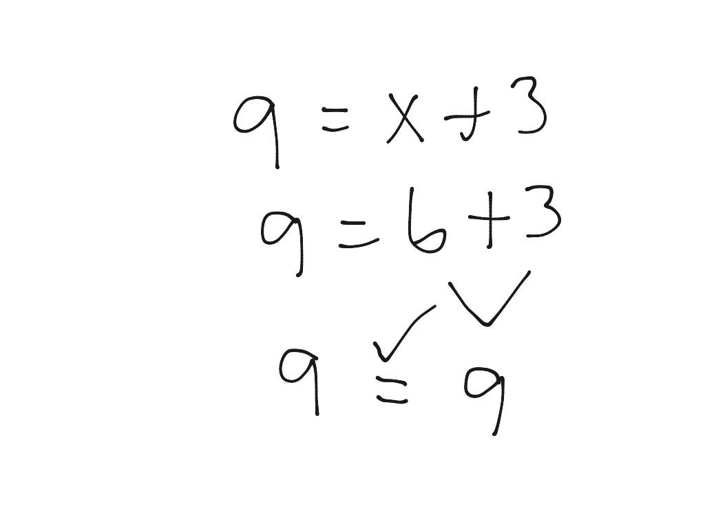 Solving 1 Step Equations With Addition And Subtraction