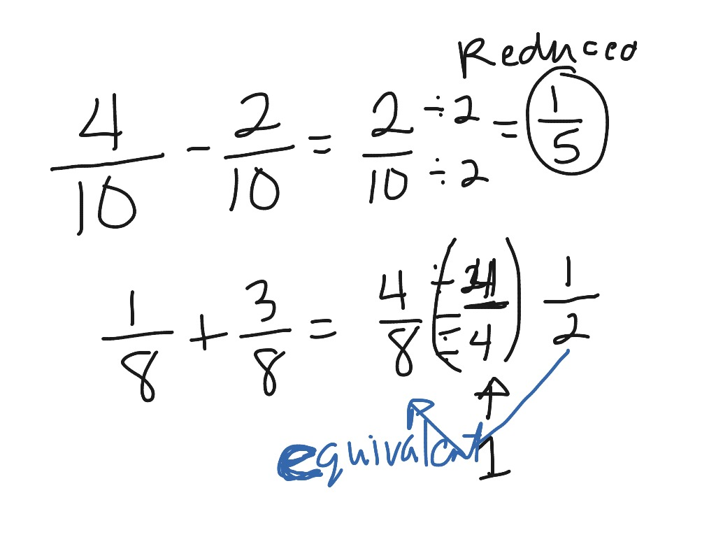 hight resolution of 4g topic 10-1 adding and subtracting like fractions   Math