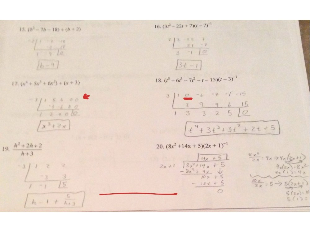 medium resolution of 5.5 Long Division and Synthetic Division Worksheet   Math