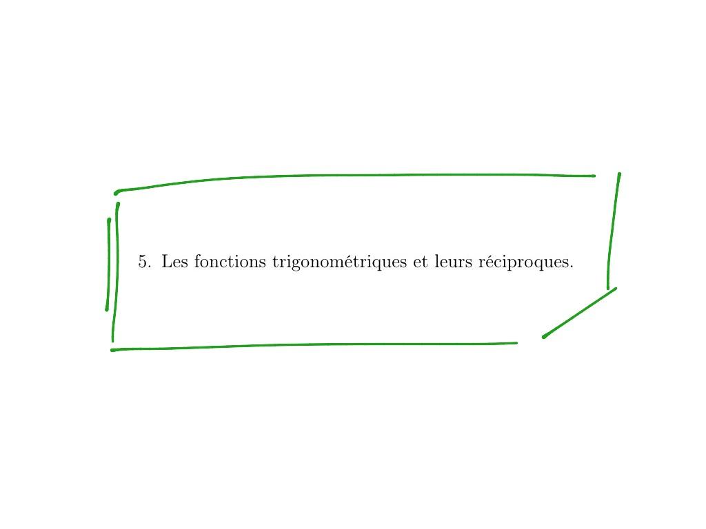 Q5 Mf Les Fonctions Trigonomtriques Et Leurs Rciproques