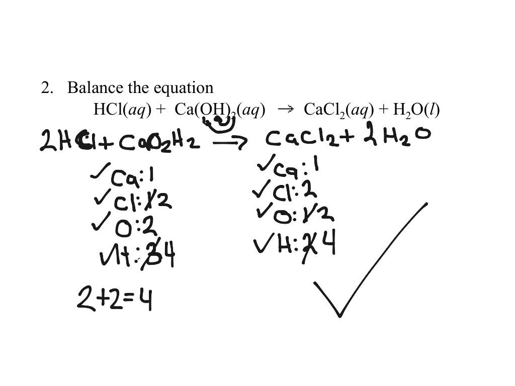 Balancing Equation With Parenthesis