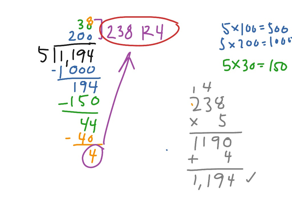Division With Expanded Notation Method
