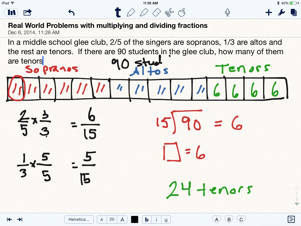 Multiplying And Dividing Fraction Word Problems