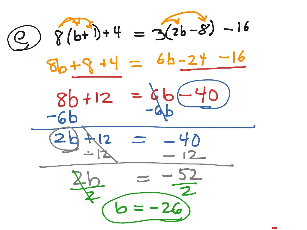 Algebra1 3 5 Solving Equations W Variables On Both Sides