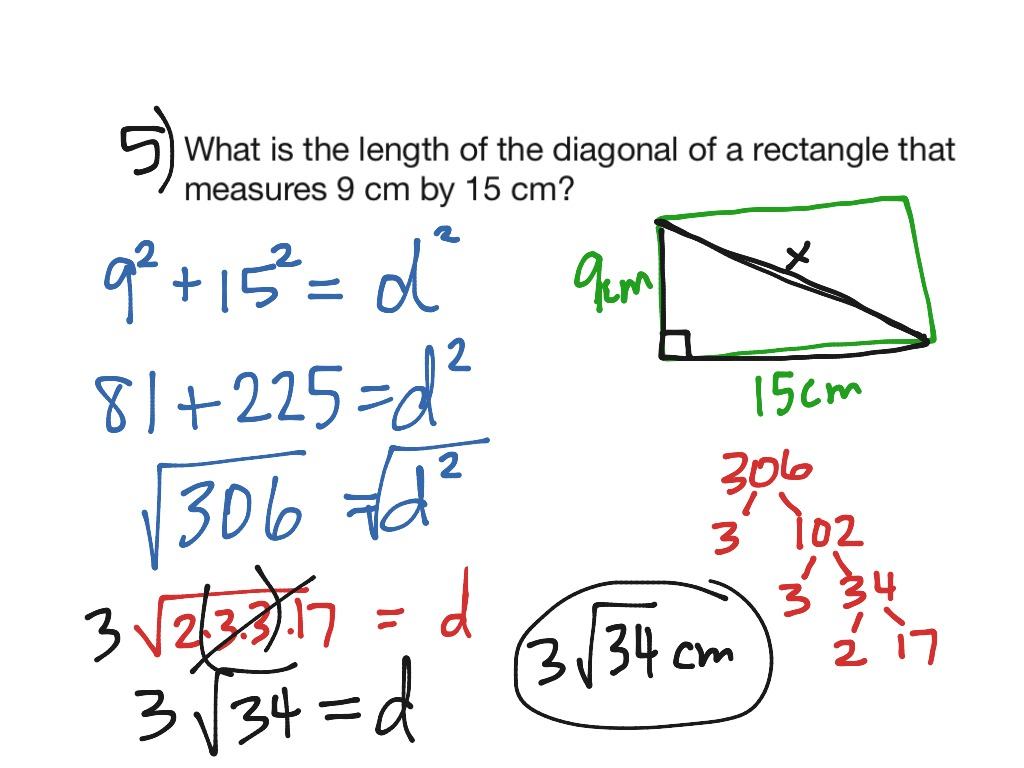 The Pythagorean Theorem With Radicals