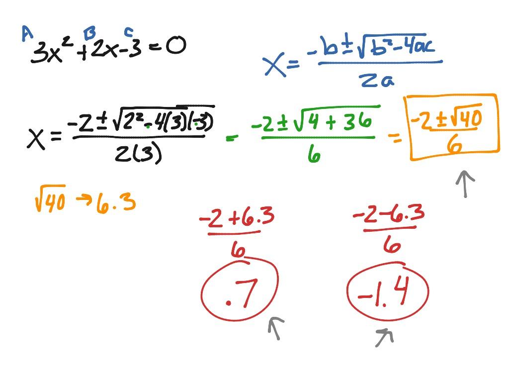 Quadratic Formula Day 2