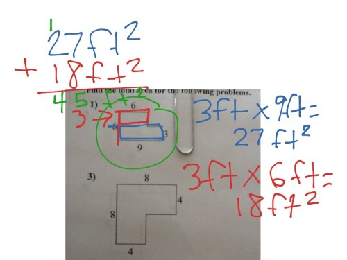 small resolution of Area of rectilinear figures 3rd grade   Math