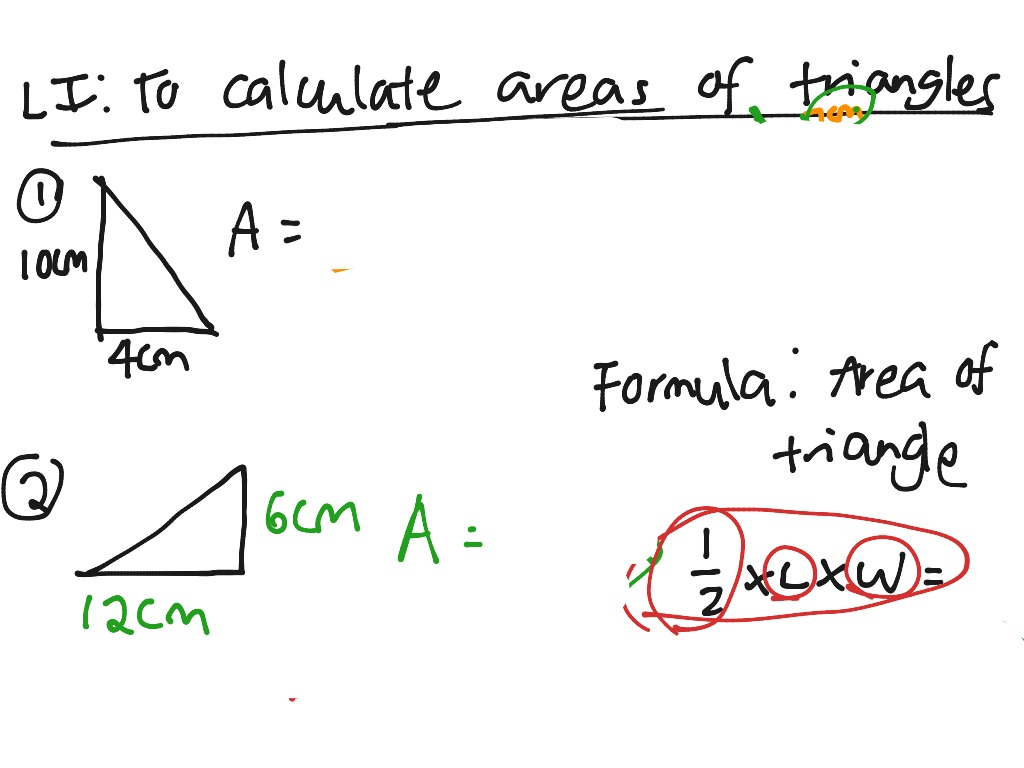 To Calculate Area Of Triangles