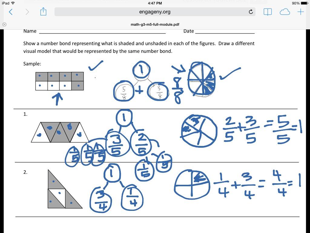 Fraction Worksheet Third Grade Number Bonds