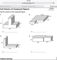 29 Volume Of Composite Figures Worksheet 5th Grade - Worksheet Project List [ 768 x 1024 Pixel ]