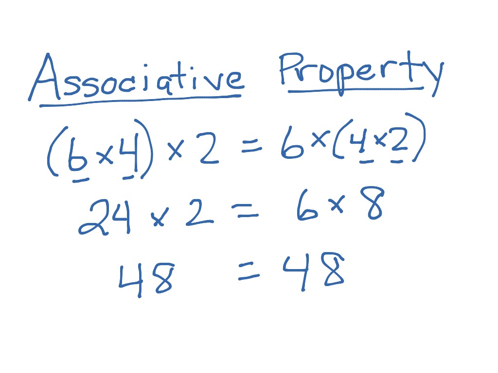 hight resolution of ShowMe - associative property of multiplication