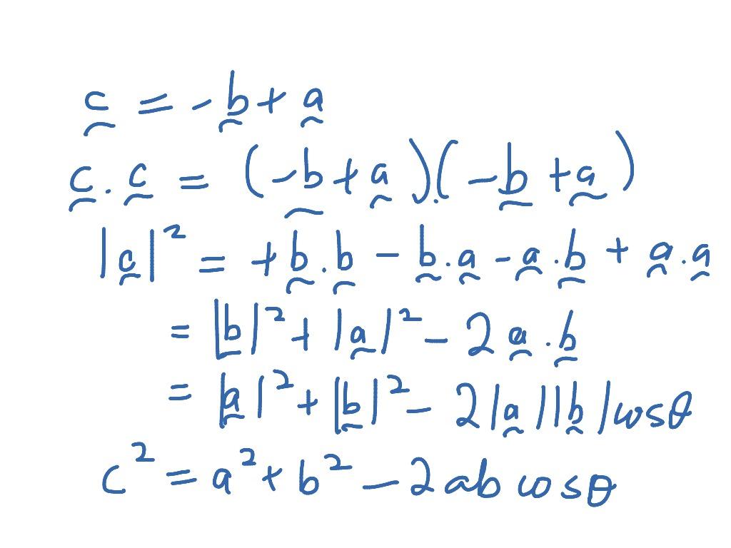 Law Of Cosines Vector Proof