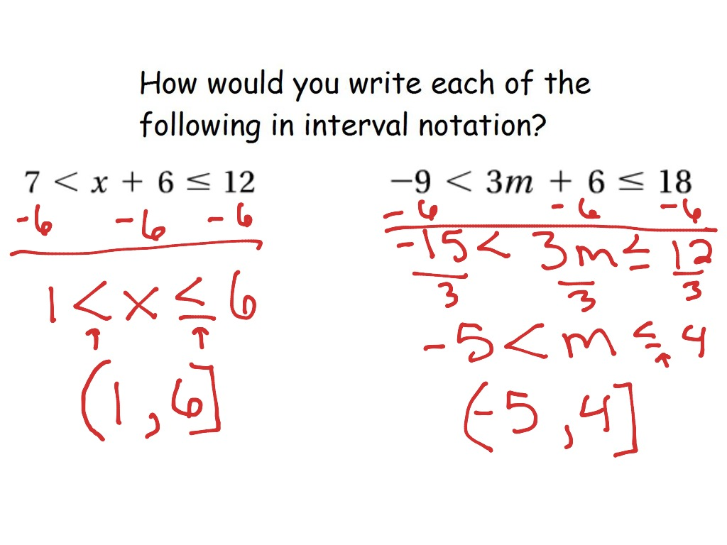 3 6 Compound Inequalities And Interval Notation