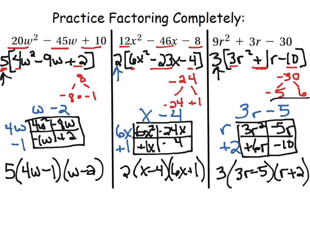 8 6 Factoring Trinomials Leading Coefficient