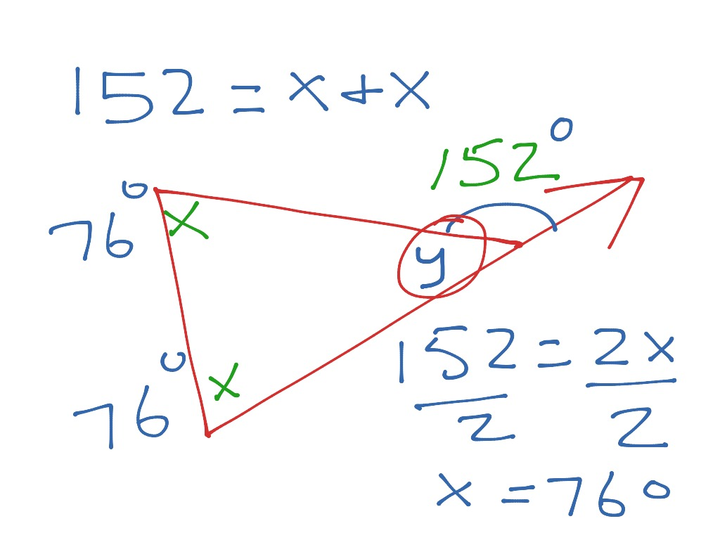 Exterior Angle Sum Theorem Angle Theorem Of Triangle Angle Degrees En Exterior Angle
