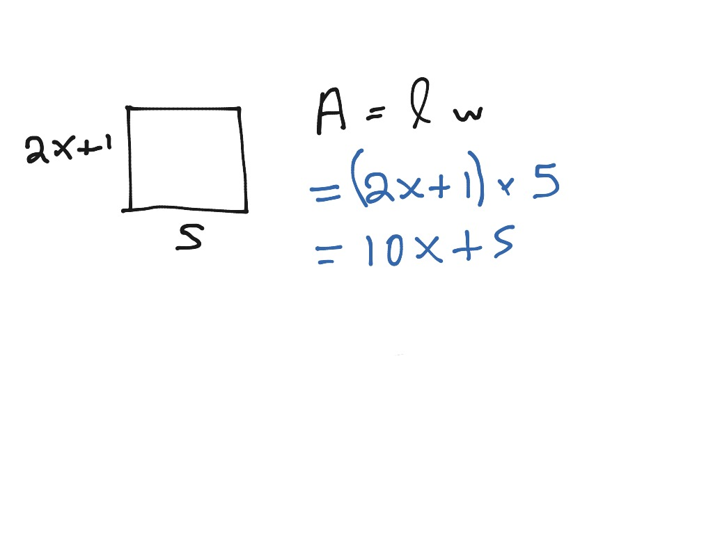 Area Of Rectangle Variables