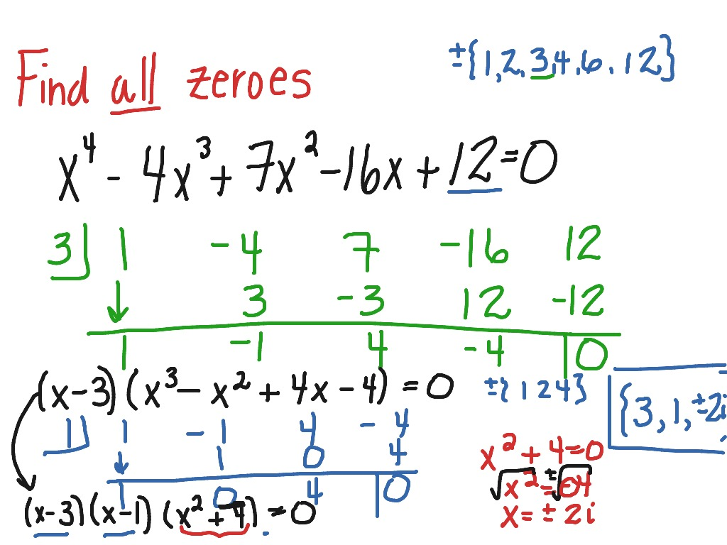 Finding Zeros Of A Fourth Degree Polynomial