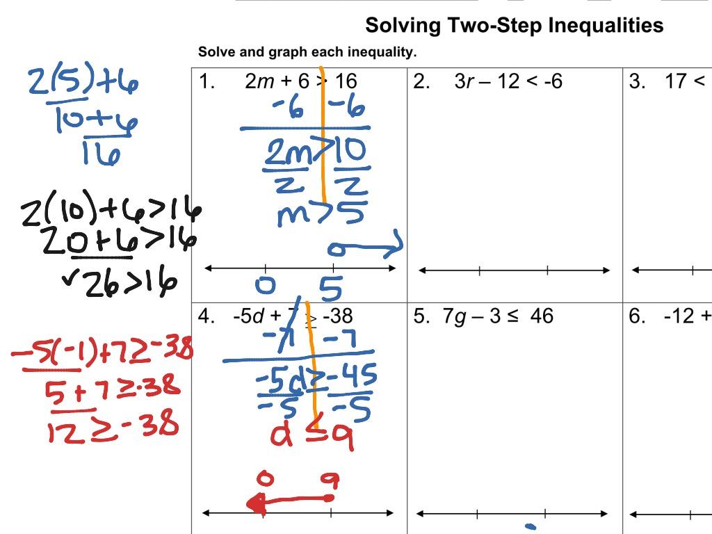 Hw 5 2 Two Step Inequalities