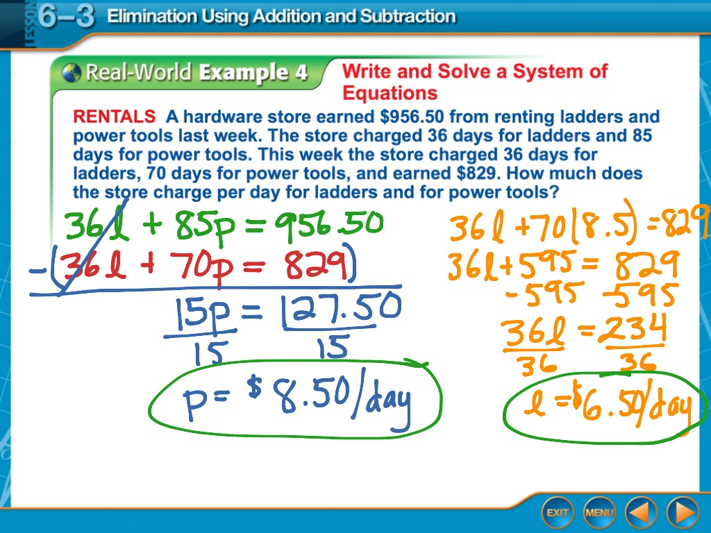 Systems Of Equations Elimination Worksheet